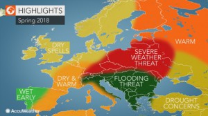 Accuweather kevätennuste Eurooppa